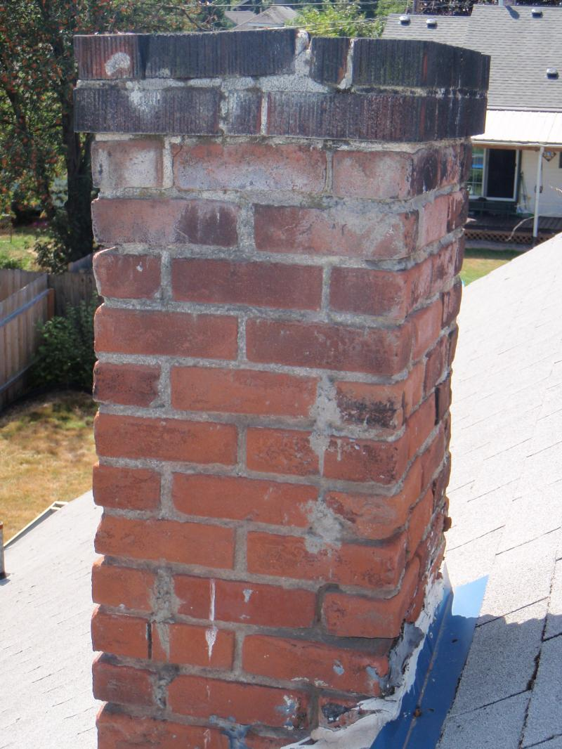 Photo illistraites what water can do to an unprotected chimney.